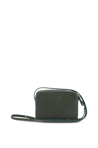 Mansur Gavriel - Double-Zip Moss Saffiano Small Crossbody Bag