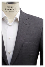 Brioni - Gray Sharkskin Wool Suit