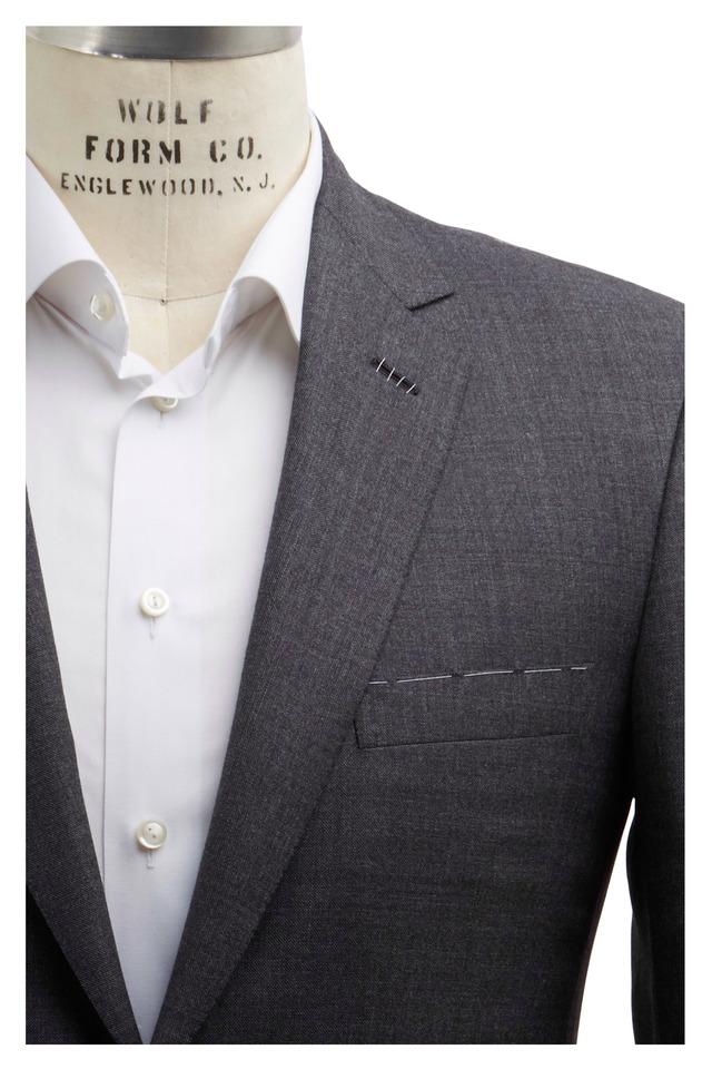 Gray Sharkskin Wool Suit