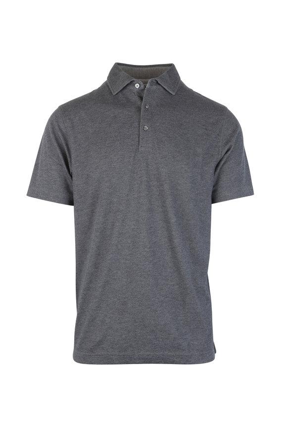 Vastrm Charcoal Gray Tech Fabric Polo