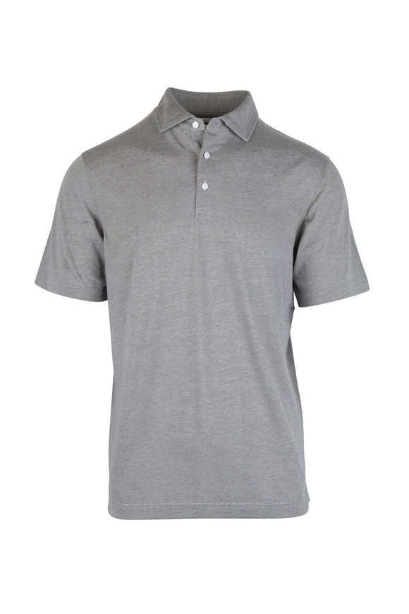 Vastrm Charcoal Gray Jersey Polo