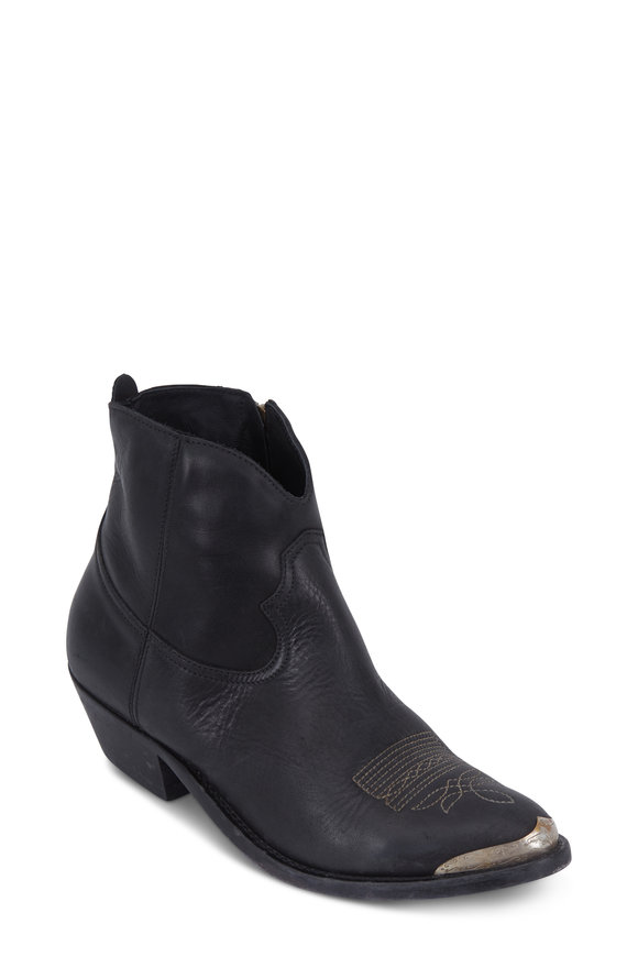 Golden Goose Young Black Leather Boot, 40mm