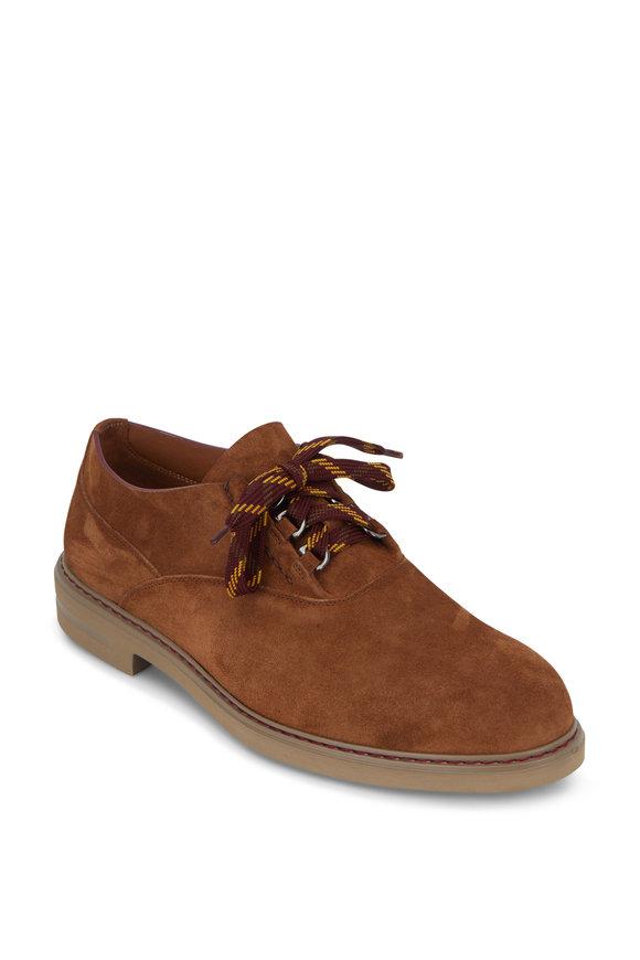 Etro Tan Suede Derby Shoe