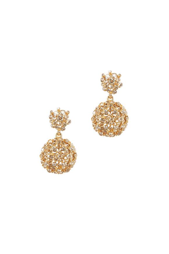 Oscar de la Renta Mixed Jewel Flower Earrings