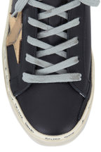 Golden Goose - Hi Star Black Leather Low Top Sneaker