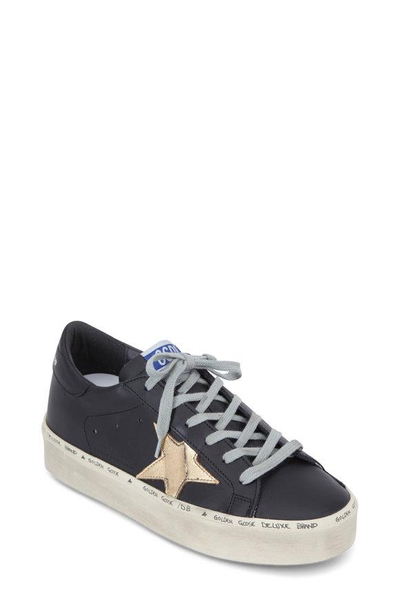 Golden Goose Hi Star Black Leather Low Top Sneaker