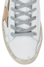 Golden Goose - Hi Star White Leather Low Top Sneaker