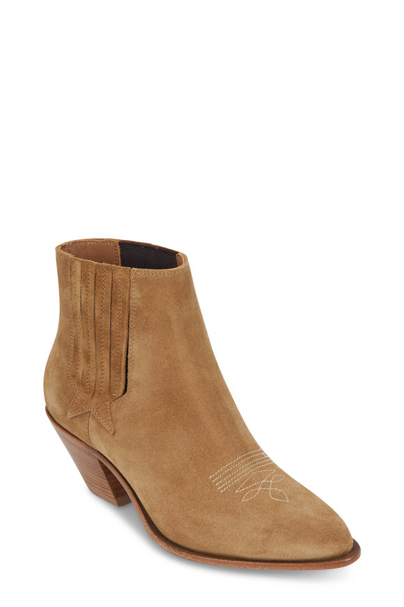Golden Goose Sunset Taupe Suede Bootie, 70mm