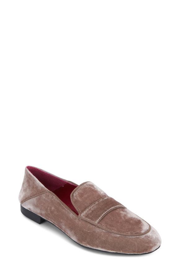 Maliparmi Taupe Velvet Moccasin Loafer