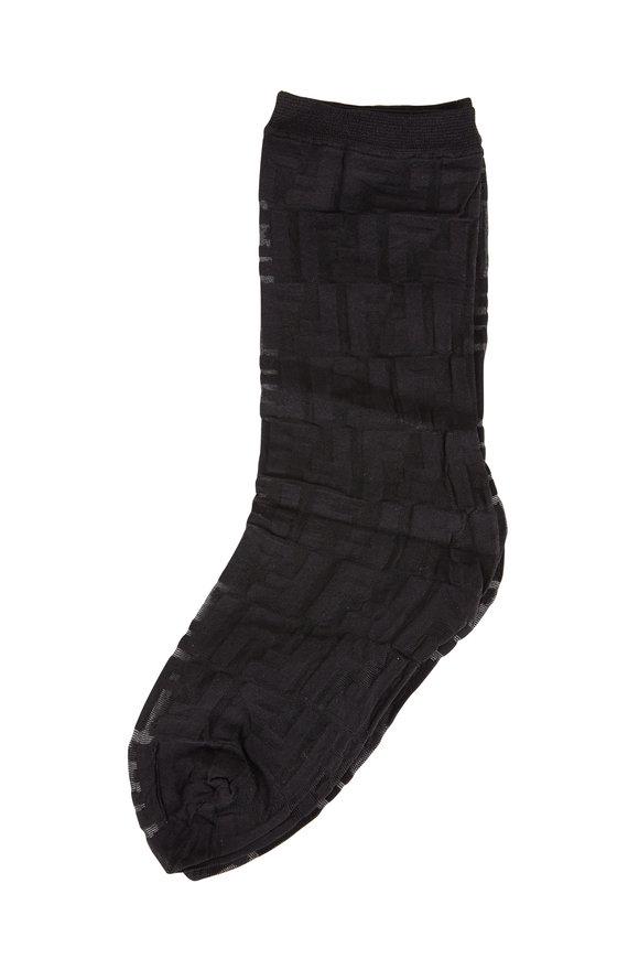 Fendi Black Signature Socks