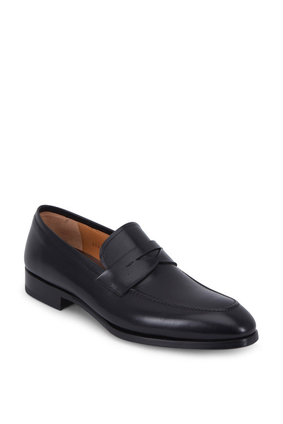 Magnanni Rolly Black Leather Loafer