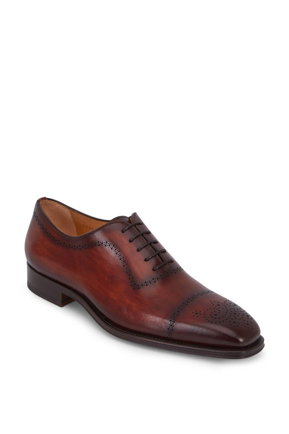 Magnanni Leyton Cognac Leather Cap-Toe Oxford