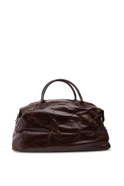 Moore & Giles - Brompton Brown Benedict Leather Weekend Bag