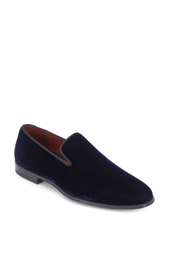 Magnanni Dorio Navy Blue Velvet Loafer