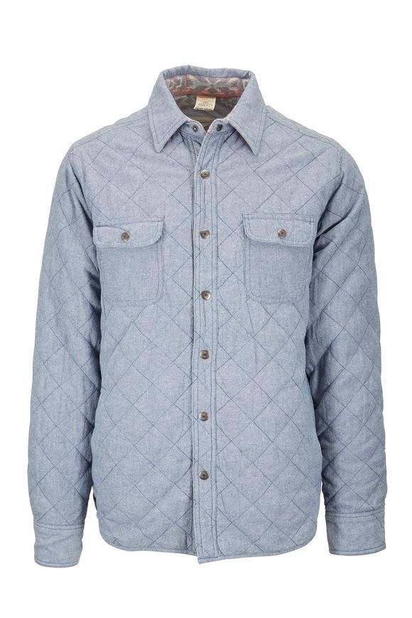 Faherty Brand Bondi Denim & Aleutian Coast Reversible Jacket