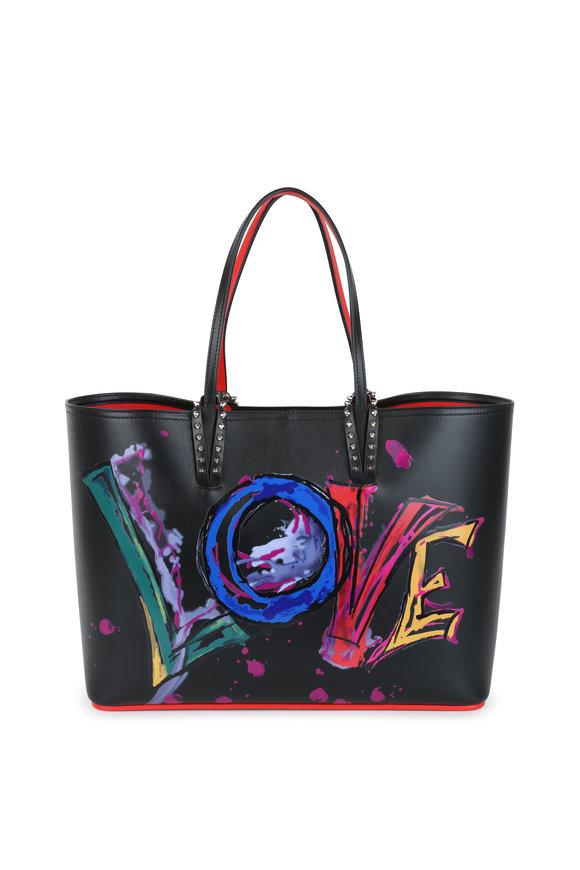Christian Louboutin Cabata Black Leather Love Tote