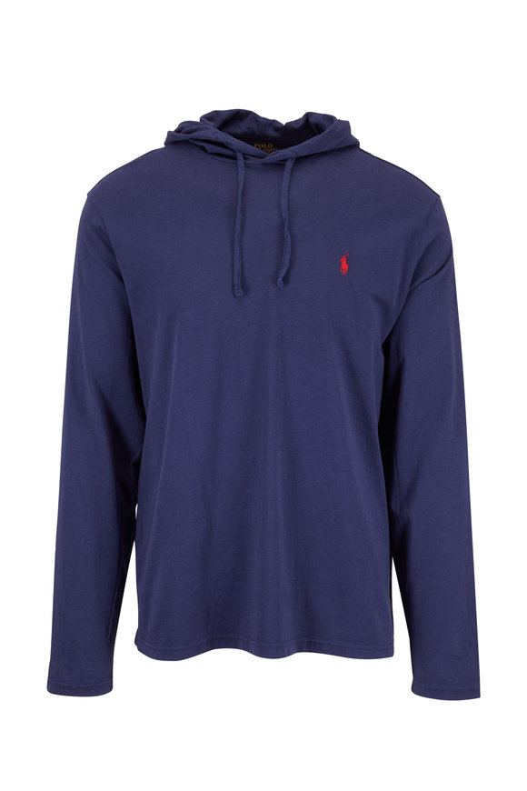 Polo Ralph Lauren Blue Knit Drawstring Hoodie