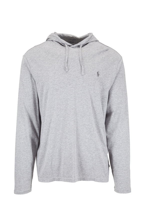 Polo Ralph Lauren Gray Knit Drawstring Hoodie
