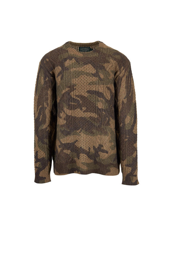 Polo Ralph Lauren Camo Wool Crewneck Sweater