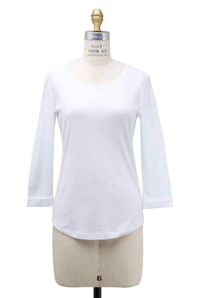 Greta White Cotton Shirt