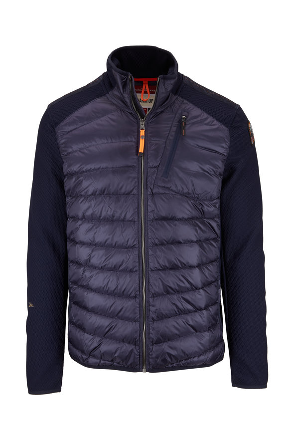 Parajumpers Jayden Navy Mixed Media Jacket