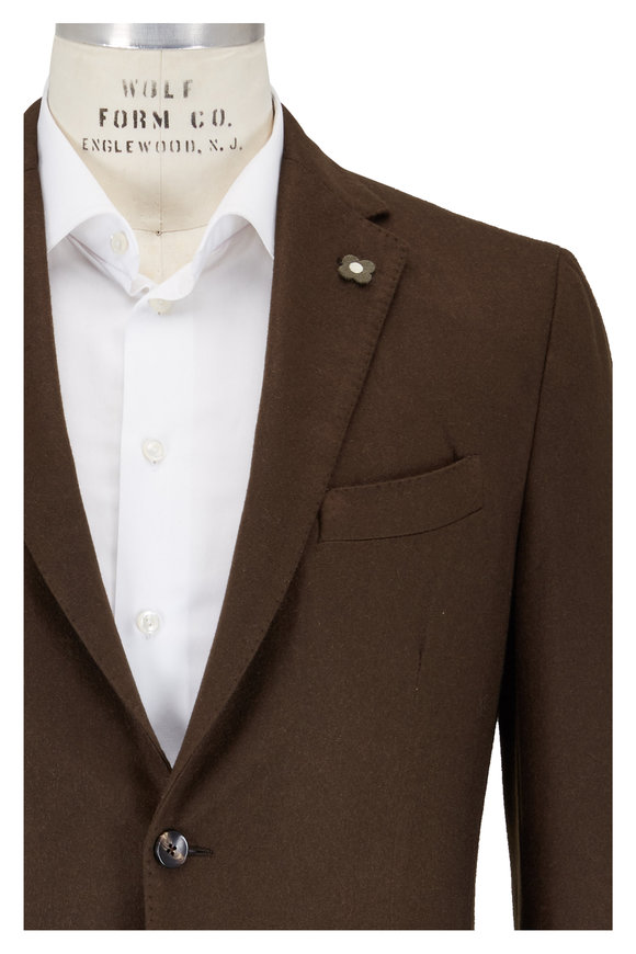 Lardini Dark Olive Cashmere Sportcoat
