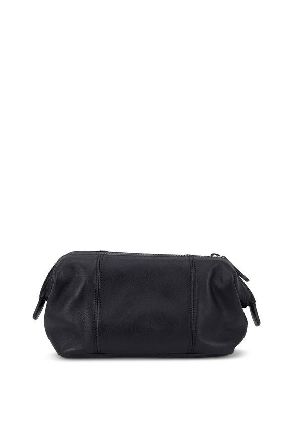 Shinola Frame Black Leather Travel Case