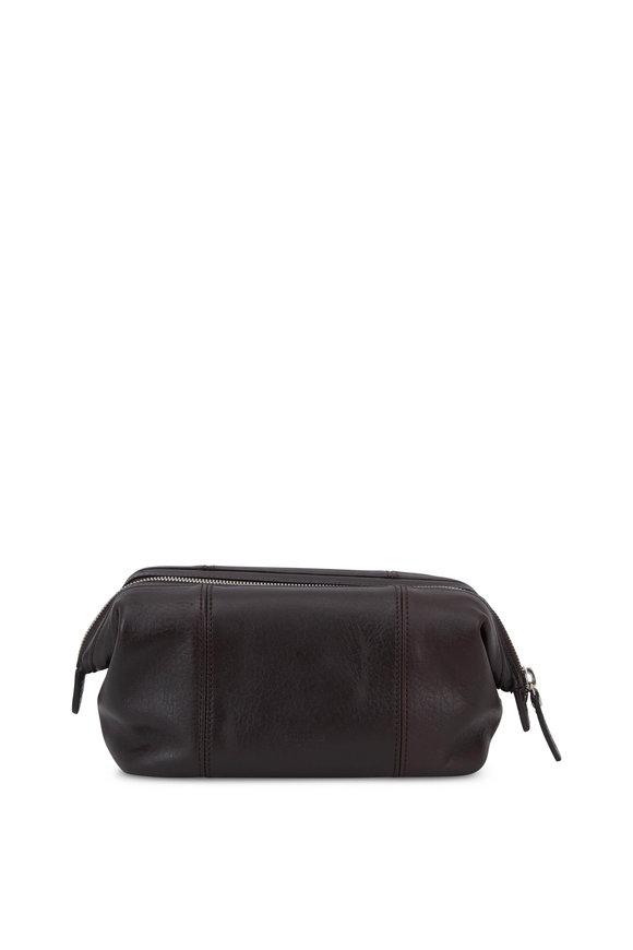 Shinola Medium Brown Leather Travel Case