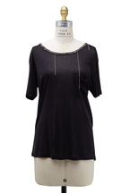 Saint Laurent - Black Silk Chain T-Shirt