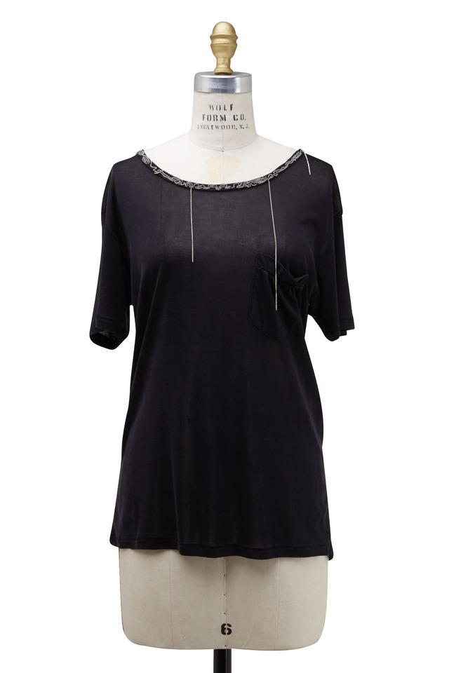 Black Silk Chain T-Shirt