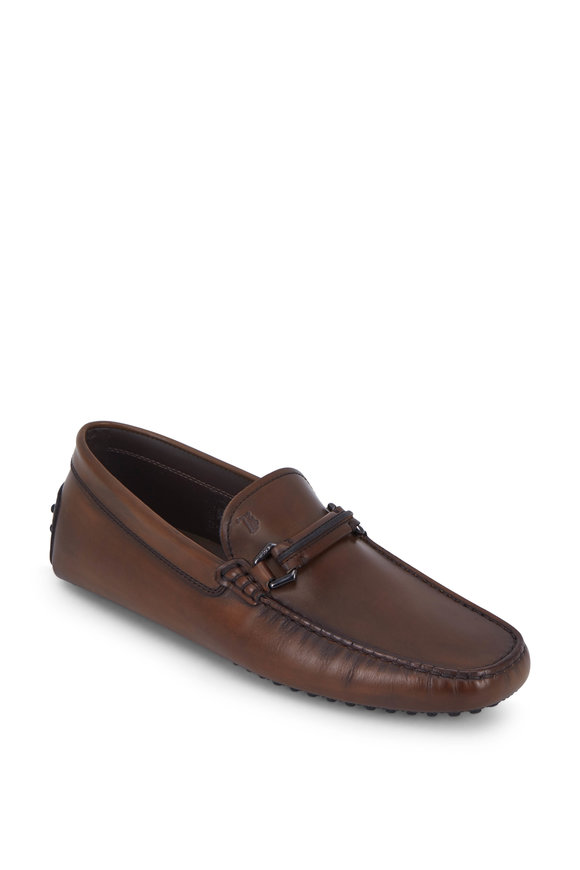 Tod's New Gommini Brown Leather Bit Loafer