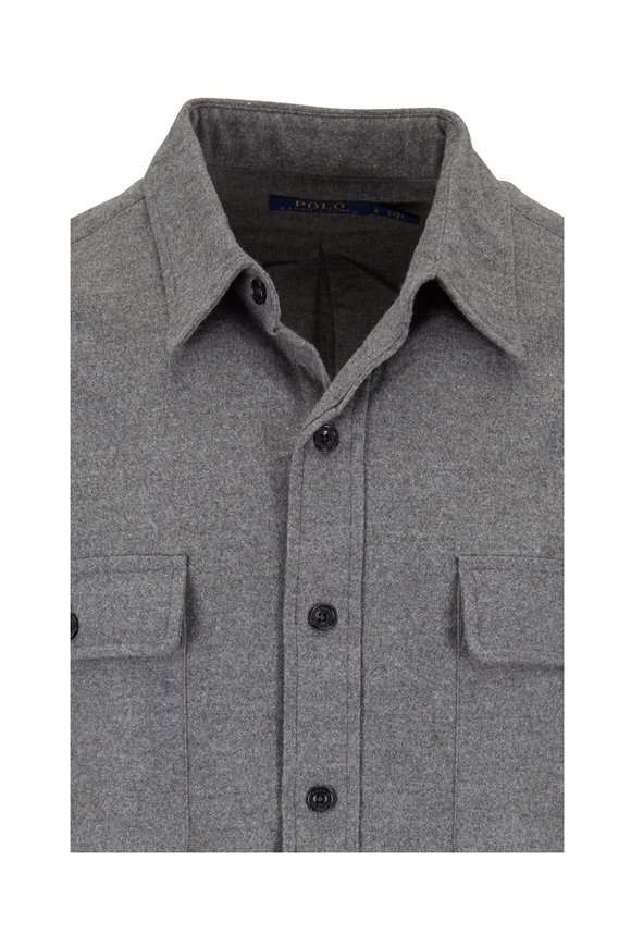 Polo Ralph Lauren Charcoal Gray Heather Button Down Shirt