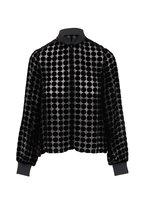 Emporio Armani - Black Velvet Circle Half-Zip Jacket