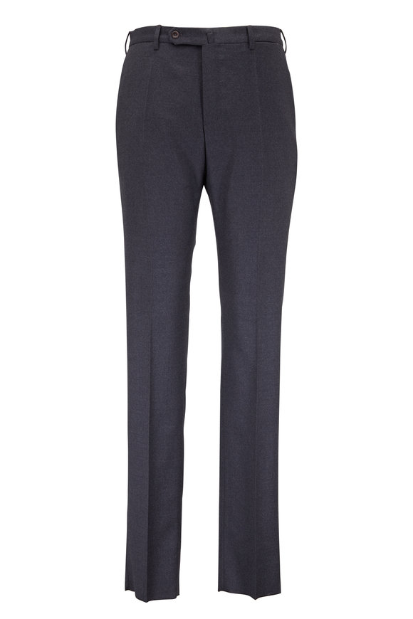 Incotex Medium Gray Wool Stretch Modern Fit Pant