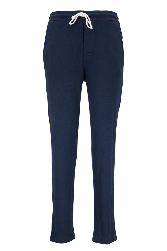 M.Singer Navy Blue Knit Lounge Pant