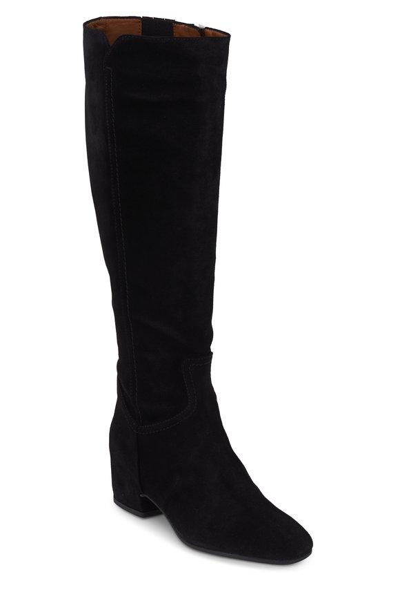 Aquatalia Ulu Taupe Black Tall Weatherproof Boot, 25mm