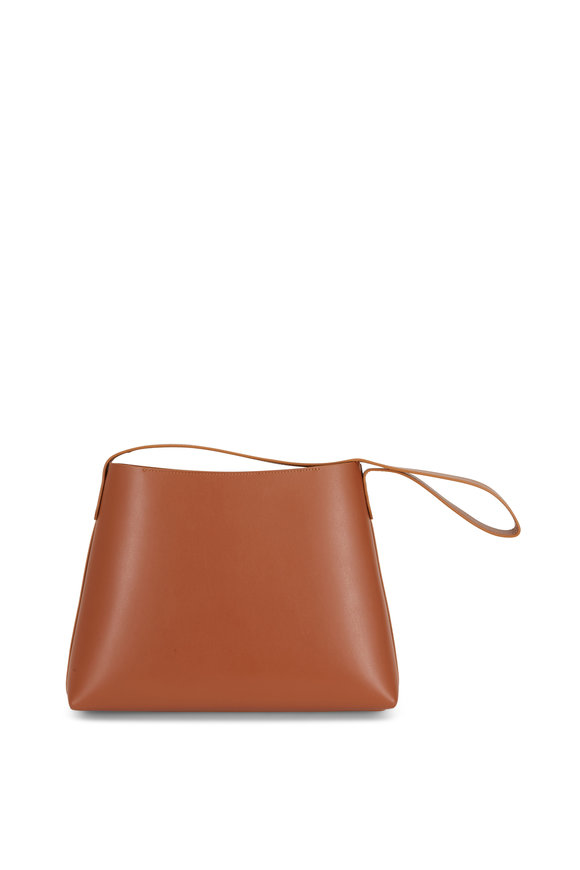 Mansur Gavriel Saddle Leather Small Hobo Bag