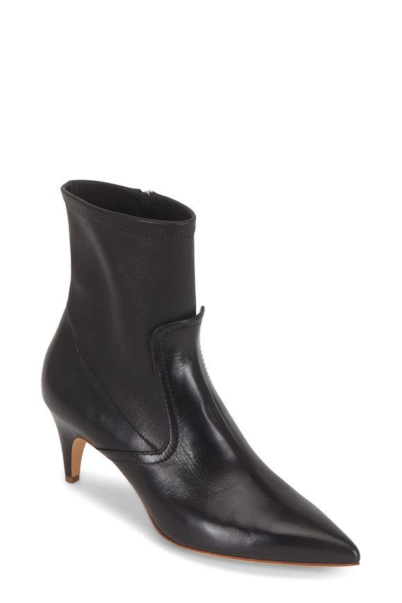 Derek Lam Blair Black Stretch Leather Bootie, 70mm