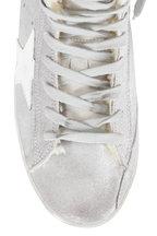 Golden Goose - Francy Silver Glitter Suede & Shearling Sneaker