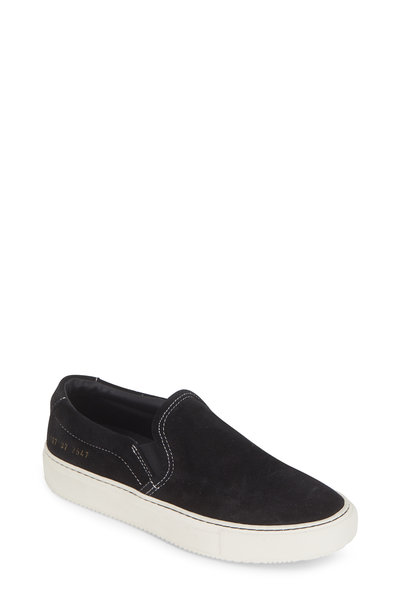 WOMAN by COMMON PROJECTS - Women's Black Leather Slip-On Sneaker