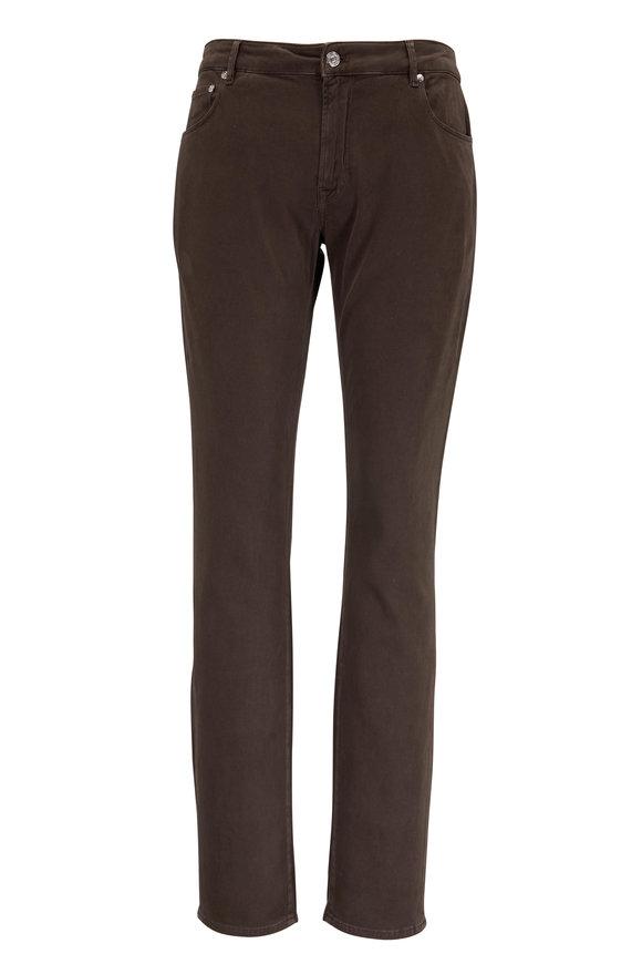 PT Pantaloni Torino Jazz Brown Regular Fit Five Pocket Pant