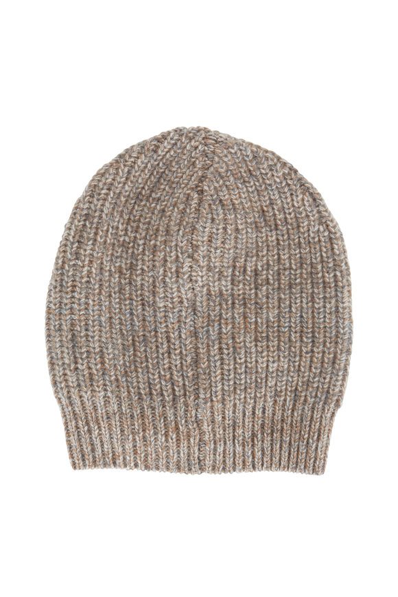 Brunello Cucinelli Light Brown Cashmere Beanie