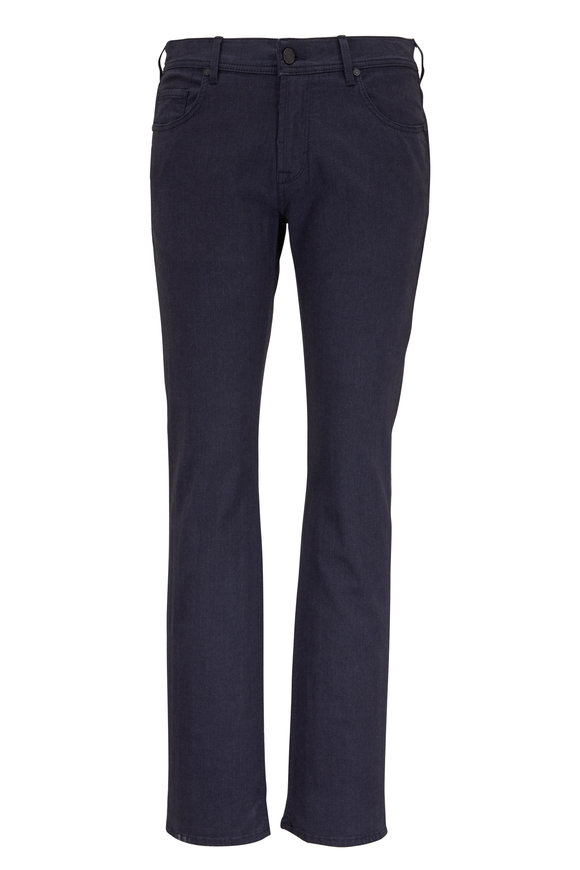 Baldessarini Jack Navy Micro Herringbone Five Pocket Pant