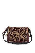 Chloé - Roy Bordeaux Leather & Velvet Small Crossbody
