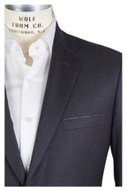 Brioni - Colosseo Solid Charcoal Gray Worsted Wool Suit