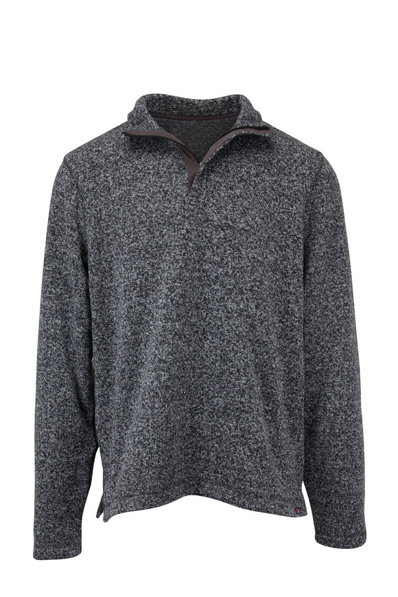 Faherty Brand Bridger Range Charcoal Marl Quarter-Zip Pullover