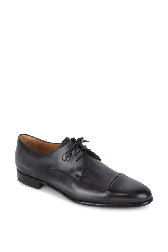 Berluti Galet Black Leather Cap-Toe Oxford