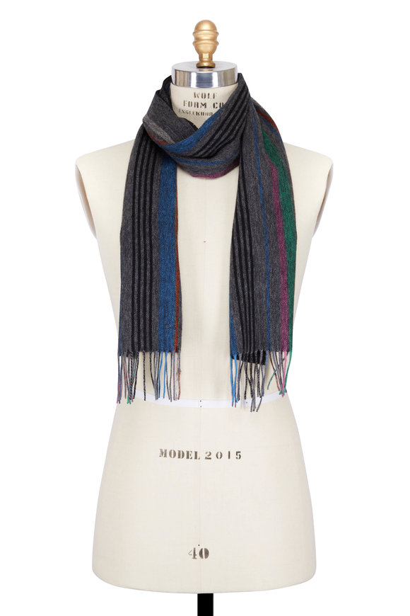 Paul Smith Multicolor Wool Striped Scarf