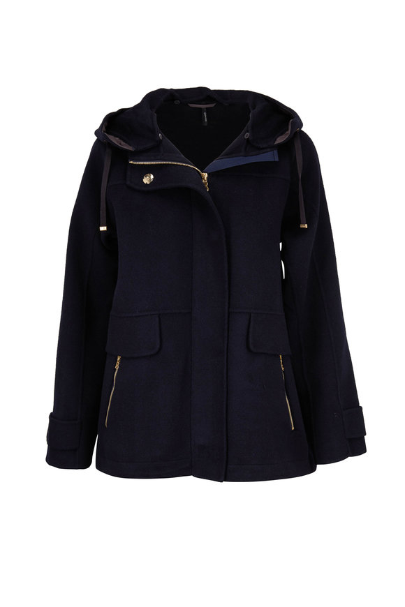 Bogner Nina Navy Blue Double-Faced Wool Jacket