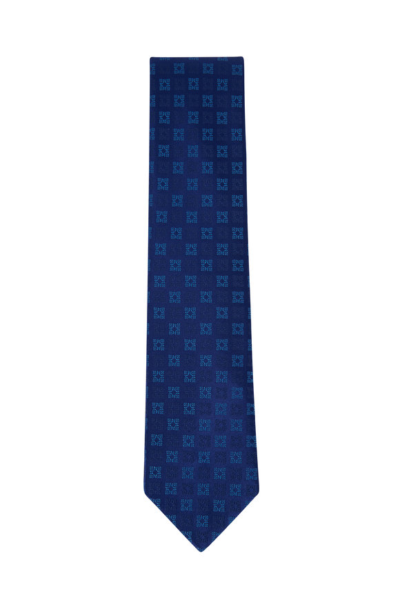 Charvet Blue Diamond Silk Necktie